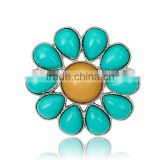 Alloy Splicing Droplet Shaped Resin Women Charming Brooch
