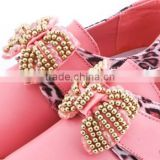 Beautiful baby girls rhinestone bows shoe clips wholesale shoe flower