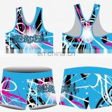 high quality Normzl customized logo girls practice crop top sublimation printing cheer tanks wholesale