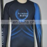 custom made ranked bjj mma rash guard