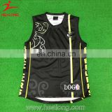 2017 Healong Sportswear Customized Team Wholesale Yourself Logo Printing Basketball Uniform Reversible Men'S Basketball Jersey