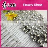 wholesale 4.5mm stainless steel ball chain for curtain