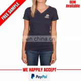V neck corporate tshirt with company logo