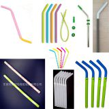 China Factory Custom FDA Silicone Rubber Drinking Straws Colorful Silicone Straws(Reusable) All kinds of Straw