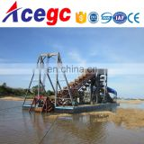 Professional sand/gold mining machinery dredging boat supplier for sale