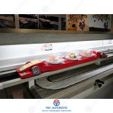 Intelligent food delivery system with rotary sushi conveyor belt set together in same restaurant - different layer