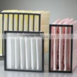 air ventilation system pharmaceutical clean room bag air handling unit parts PAU ahu bag filter pocket filter