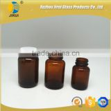 Amber pharmaceutical vitamin glass bottle with white lined cap