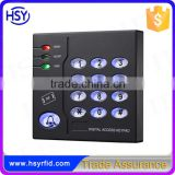 HSY-S211 Wiegand input 6500 Users Luminous Keyboard Smart Card Password Contactless RFID Stand-alone Access Control System