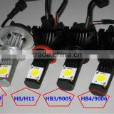 50W kree chip 2000 lumen car led headlight(H4,H7,H8,H11,9005/HB3, 9006/HB4), replace halogen bulb