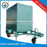 Trolley mounted high vacuum mobile oil purification plant, outdoor use type transformer oil purification machine