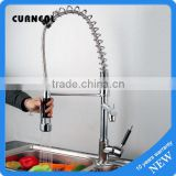 New arrival Luxury Chrome Pull out Hose Brushed Nickel Bar / Kitchen Sink Pull-out Spray Mixer