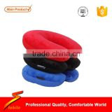 STABILE neck pillow,U shape inflatable pillow,Custom PVC+PVC flocking Inflatable Travel Pillow