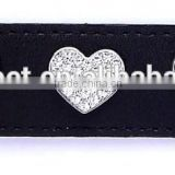 Full Covered White Rhinestone Heart Rivets Metal Accessories for Pet Dog Collars
