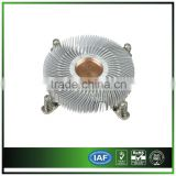 Aluminum Heatsink With Bending Fins And Plug Copper
