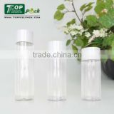 High Quality 150ml PET Round Plastic Transparent Shampoo Body Lotion Bottle with white PP Cap