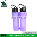China gold supplier supplier wholesale new design plastic foldable bpa free water bottles
