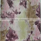 Multi-color spraying printing pattern pu artificial leather fabrics 100% visco faux leather for bags garment
