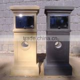 Factory wholesale outdoor nature stone mail box, mail letter stone post box
