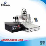 high quality CNC Router machine 4030Z-800W USB 3axis with mach3 remote control handwheel