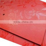 Red color waterproof hpl compact laminate 3d wall paper                                                                         Quality Choice