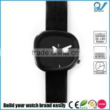 Italian genuine leather strap brand black stone model watch