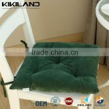 2015 New Style Woven chair pad with ties Customize color square chair pad