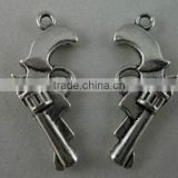 OEM Jewelry Findings Silver Western Metal Charms Gun Pistol Charm