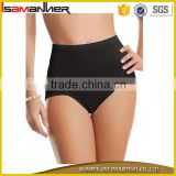 Pure black and white fitness panty women body sculpting high hip thong underwear