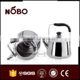 classic thickened stainless steel whistling kettle with bakelite handle for boiling water