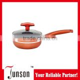 14cm Marble Coated Aluminum Sauce Pan/Induction Cookware Sauce Pot with Lid
