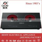 Metal housing 4 digital display 4000w electric induction cooker 2 burner kitchen stove brands