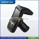 RFID Mobile Handheld Reader with gun handle Huaxin Genvict With One Year Warranty UHF RFID Reader Industrial Hand-held Terminal
