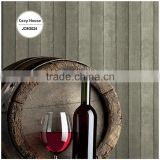 inexpensive printed plastic wallpaper, gray neat vertical stripe wall sticker for restaurant , fantastic wall covering price