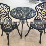 2016 new design garden coffee bistro set outdoor furniture cast aluminum patio furniture                                                                                                         Supplier's Choice