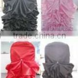 superb charming satin ruffled chair cover and table cloth for wedding,new style chair cover and table cloth