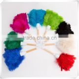 Colored ostrich Feather Duster with wooden handle OEM service