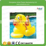 2015 Hot Sale Giant Inflatable Ducky Ride On Duck Swimming Pool Floating Toy For Kid