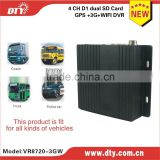 DTY Factory direct 4 channel 3G mobile DVR for vehicles support PC and mobile phone surveillance,VR8720-3GW,