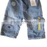 new designed kids clothes boys stripe denim pants cargo pocket denim trousers