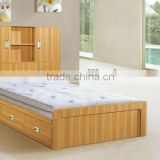 Small single bed wardrobe combination bedroom sets for kids 307609                                                                         Quality Choice
