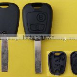 Promotional peugeot key with 2 buttons 307 blade car key remote key blank housing peugeot