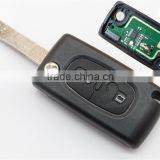 Promotion Citron C4 remote key of 2 button with transponder chip ID46 + 433Mhz + battery holder CE0536 + 407 blade