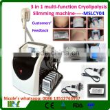 Double Chin Removal 2016 New Generation 3 In 1 Multi-function Cryolipolysis Slimming Machine/cavitation Slimming Machine MSLCY04i Fat Reduction