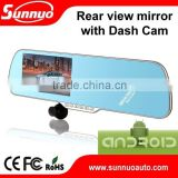 5 inch 1080P touch screen mirror andriod car rear view camera rearview mirror GPS navigation FHD DVR with AVIN FWIFI G-Sensor