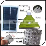 2 color emergency portable Remote Control rechargeable tent light 25 led solar camping light