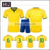 New Design trustworthy supplier top quality best selling soccer training jersey with low MOQ