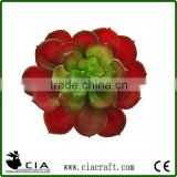 Large Plastic Large Aeonium Pick Artificial Potted Succulent Plant in Deep Red with Green Heart
