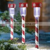 Plastic Candy Cane Stake Solar Light Stake for Decoration