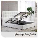 Home Furniture Prado Gas Lift Ottoman faux leather Storage Bed                                                                         Quality Choice